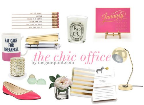Chic Office Decor {cute Working Girl Must Haves}   {desk Decor}   Pinterest    Chic Office Decor, Girls And Office Spaces