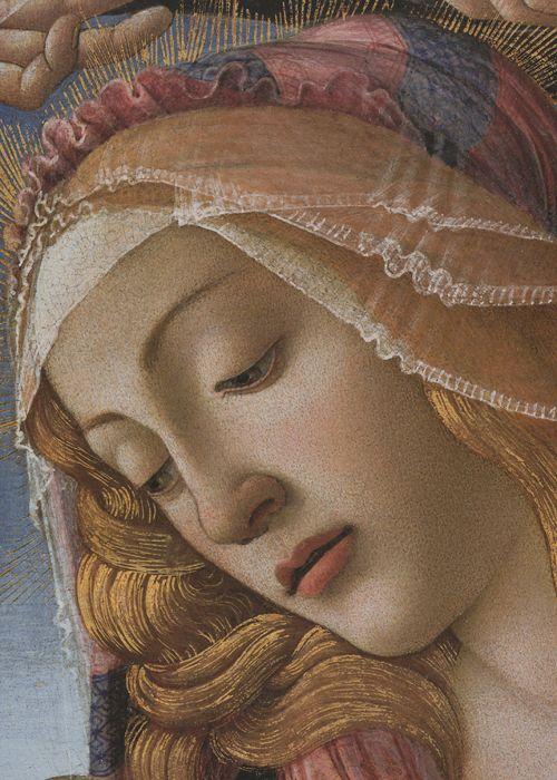Madonna del Magnificat (detail), Botticelli, 1481:
