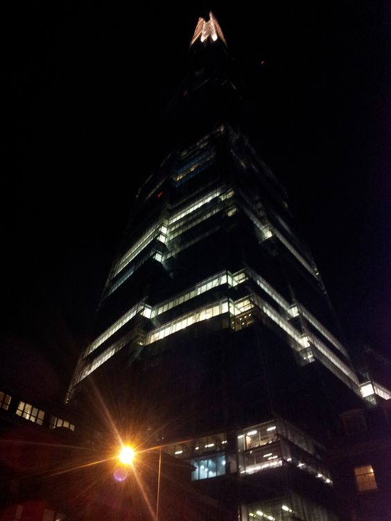 the shard at night - london