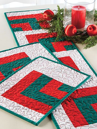Quilting holiday seasonal patterns christmas for Kitchen quilting ideas