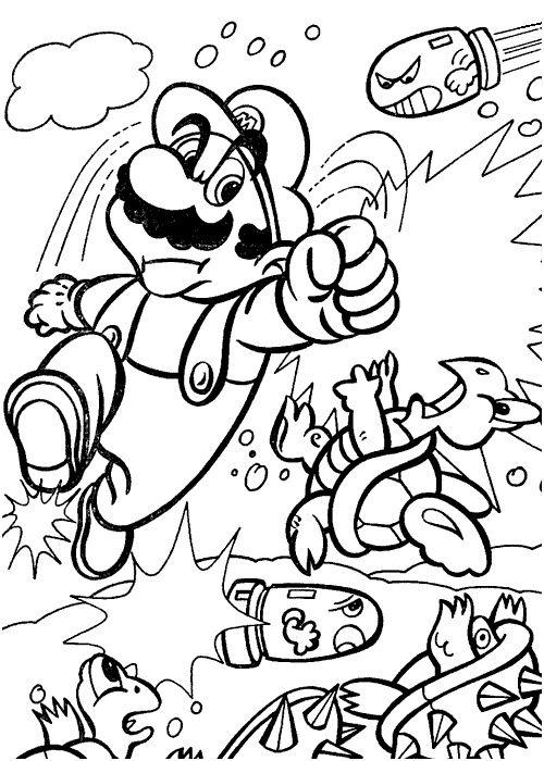 Coloriage Mario Coloriagemariohelice
