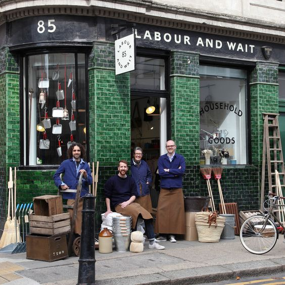 'Labour and Wait' Established in 2000 in the heart of East London's market district, we offer an evolving range of timeless, functional products for everyday life. For the past twelve years we have searched out specialist makers from around the world, many of whom manufacture their goods in the traditional way and to their original designs.