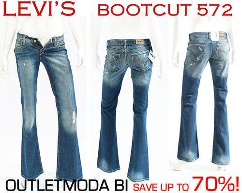 Levis 572 Women BOOTCUT JEANS Levi's blue Ladies Trousers ...