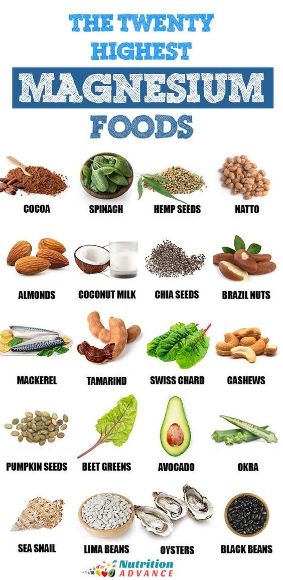 The Twenty Highest Magnesium Foods | Looking to up your magnesium intake? Here are 20 foods that contain large amounts of dietary magnesium. From cocoa to mackerel, avocado, and brazil nuts....magnesium-rich foods can be very tasty too! #magnesium #minerals #nutrition #healthyfood
