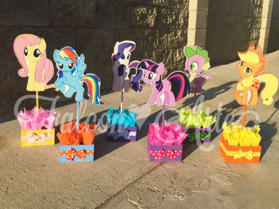 My Little Pony Birthday Party Centerpiece Favors by FalconArte: