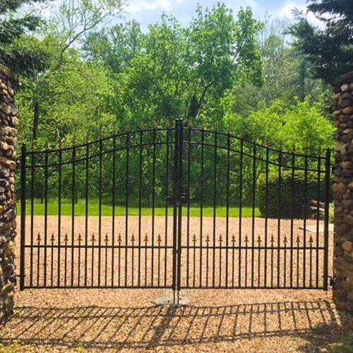 Amazing Offer On 6 Ft H Munich Dual Swing Driveway Gate Aleko Online Topfashionoutfits In 2020 Metal Driveway Gates Driveway Gate Garden Patio Furniture