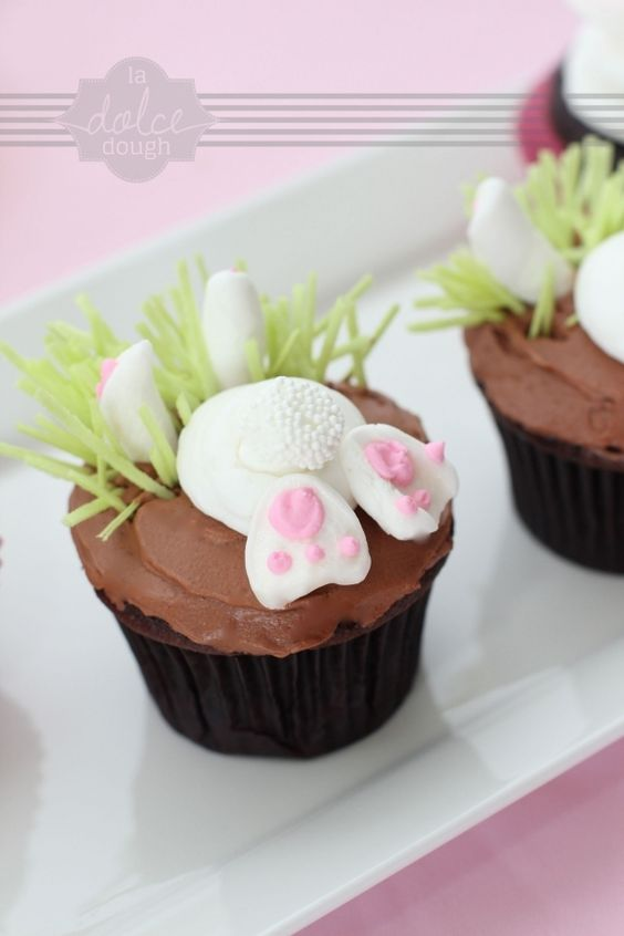 bunny cupcakes: