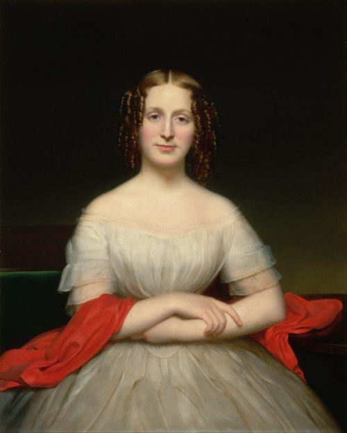 ab. 1840 Charles Cromwell Ingham - Portrait of Fidelia Marshall: