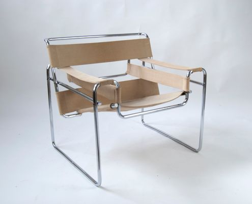 Vintage Canvas B3 Wassily Chair By Marcel Breuer For Gavina 1960s
