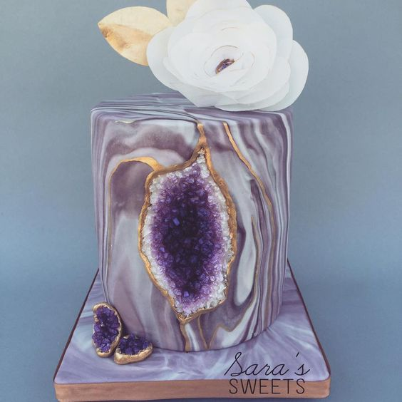 Image result for sara's sweets purple geode cake
