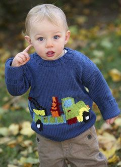 Truck | Berroco, baby knit sweater, free knitting pattern