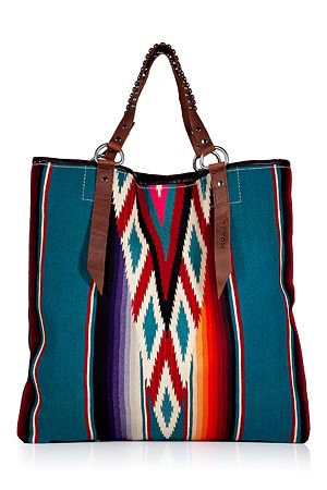 Clouded Sky Ikat Large Serape Tote by TOTEM