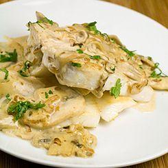 John Dory with Mushroom and White Wine Sauce | The Good Fish Company