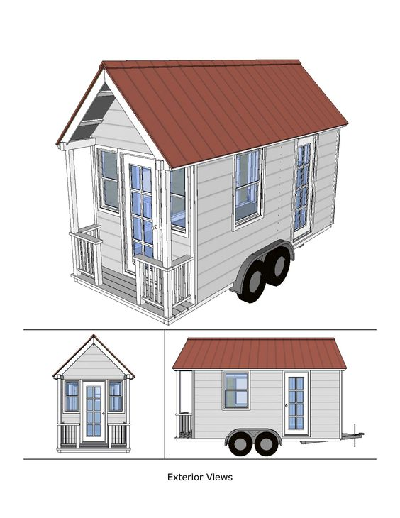 Cabin house and tiny house on pinterest for Home design 8x16