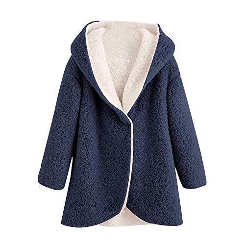 HX fashion Damen Strickjacke Frauen Winter Hoodie Mantel
