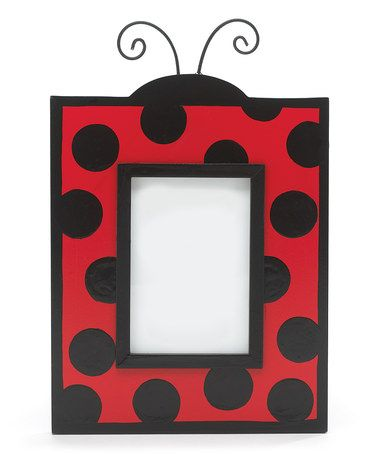 Take a look at this Red & Black Ladybug Picture Frame by burton + BURTON on #zulily today!: