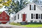 White house, blue shutters, red bard. Ideal. 1830s Farmhouse Remodel Fit for a Family