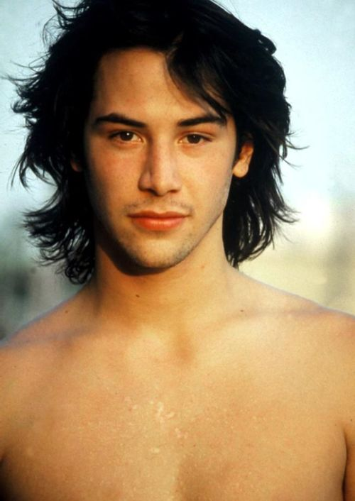 Keanu Reeves Anytime But With Long Hair Oh My Keanu Reeves Long Hair Styles Keanu Reeves Young