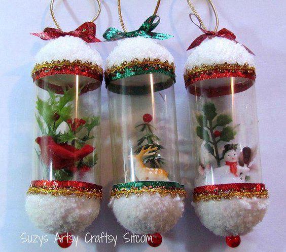 Adornos preciosos, realizados con botellas plásticas de gaseosas...: