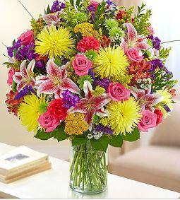Sincerest Wishes Bright Arrangement