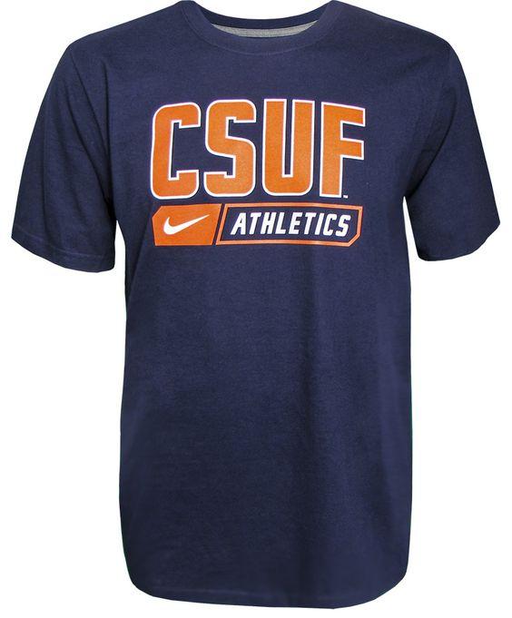 CSUF Nike Athletic Tee - Navy