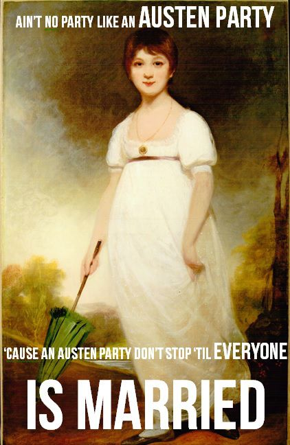 jane austen meme - birthday party · image source