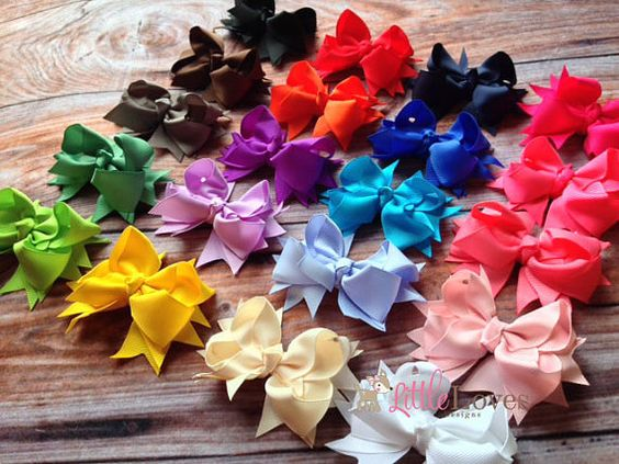 Hey, I found this really awesome Etsy listing at https://www.etsy.com/listing/188817671/hair-bows-set-of-20-5-inch-bows-ribbon