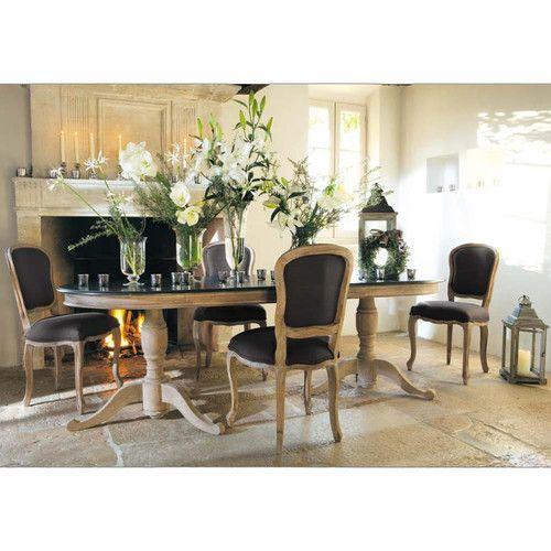 table de salle manger en manguier grise effet vieilli l 240 cm - Salle A Manger Blanc Vieilli