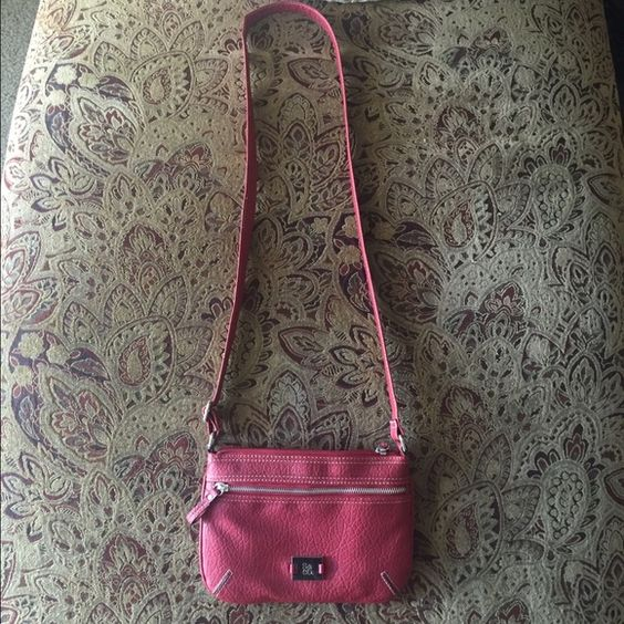 Red satchel New, no tags. Red satchel bag extra zipper front pocket. S&CO Bags Satchels
