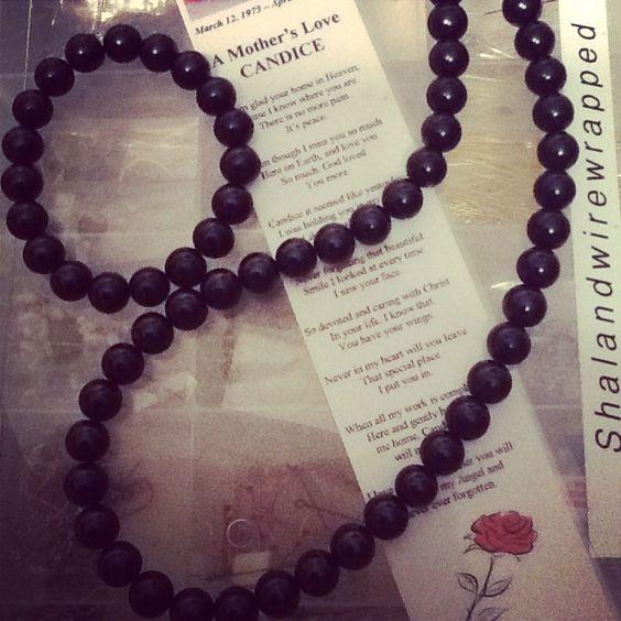 Black Elite necklace set by me shalandwirewrapped