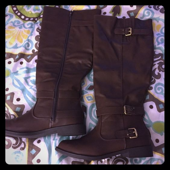 JustFab boots brown JustFab boots worn once JustFab Shoes