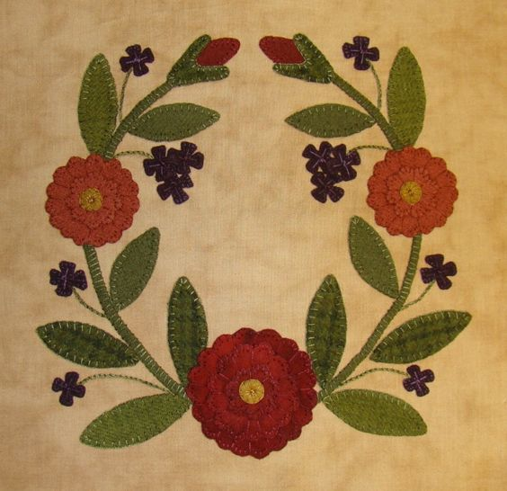 lisa bongean bom: Beautiful Quilts, Quilts Wool, Green Quilts, Bongean Quilts, Quilt Block, Appliqued Quilts, Fabric Wool Applique, Wool Applied, Applique Quilts Blocks