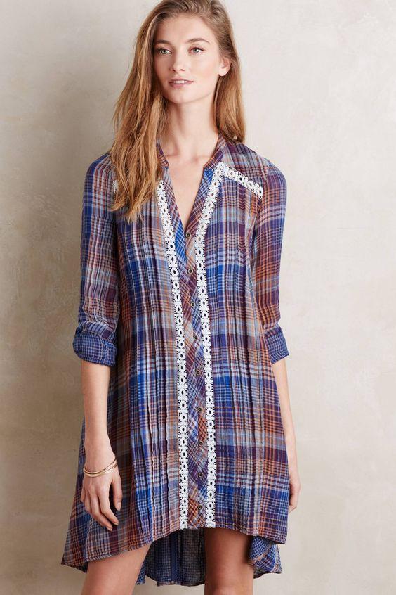 at anthropologie Abita Shirtdress - blue motif