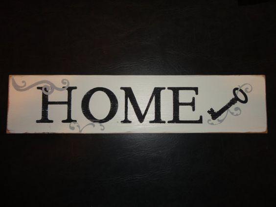 Hand Painted Wood Home Sign by KLKDesignsLLC on Etsy, $30.00