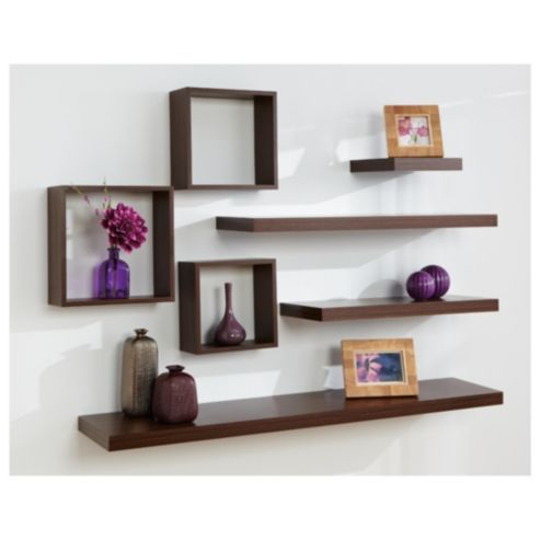 Floating shelf arrangement cool homes pinterest i Cool wood shelf ideas