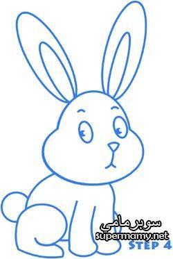 نتيجة بحث الصور عن رسم ارنب للاطفال ملون Bunny Drawing Easy Bunny Drawing Easter Drawings