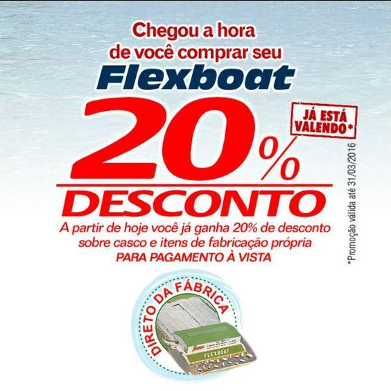 Chegou a hora de você ter um Flexboat com o melhor desconto do ano! *Contate-nos e saiba mais sobre as condições e prazos. (11) 4414-1250 / 4411-0526 ou vendas@flexboat.com.BR *Conheça nossos barcos www.Flexboat.com.BR/produtos