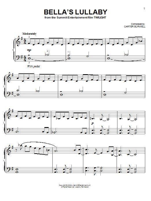 Twilight Piano Sheet Music Bella Wiegenlied Bella Music Piano Sheet Twilight Wiegenlied Piano Sheet Easy Piano Sheet Music Piano Music