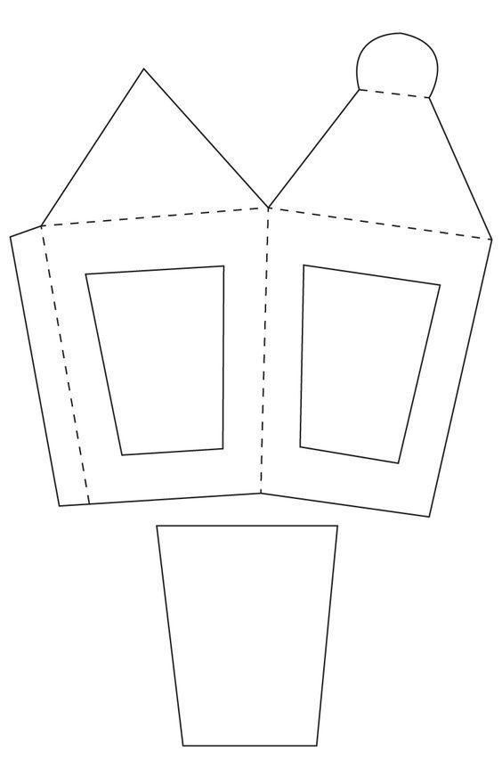 moldes de faroles en carton - Buscar con Google: