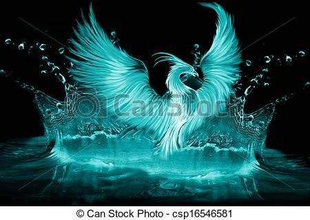 Stock Illustration - phoenix - stock illustration, royalty free illustrations, stock clip art icon, stock clipart icons, logo, line art, pictures, graphic, graphics, drawing, drawings, artwork