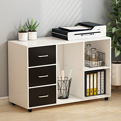Tribesigns 3 Drawer Wood File Cabinets Large Modern Lateral Mobile Filing Cabinets Printer S Office Storage Cabinets Home Office Filing Cabinet Printer Storage