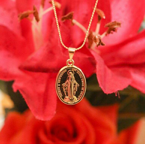 Loja | ateliê de acessórios - colar pingente Nossa Senhora