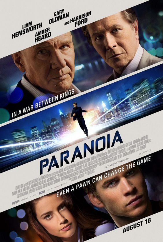 [PÓSTER] de Paranoia protagonizada por Liam Hemsworth, Gary Oldman, Amber Heard y Harrison Ford