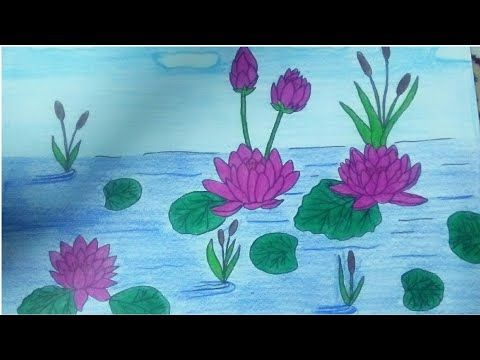 رسم زهره اللوتس خطوه بخطوه How To Draw Lotus Youtube Lotus Art Drawings Art