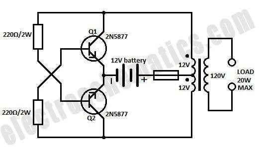 Dc To Dc Ac Inverter Circuit Diagram Circuit Diagram Diagram Circuit