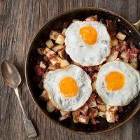 Corn beef hash and eggs