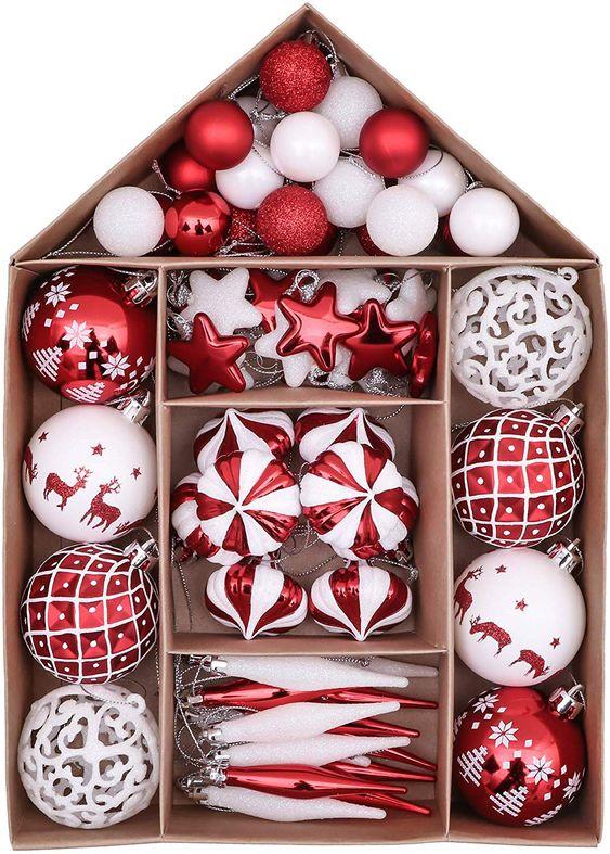 Victor S Workshop Weihnachtskugeln 70tlg Kunststoff Christbaumkugeln Weihnac Rosa Weihnachtsbaum Weihnachtskugeln Rosa Weihnachtsdeko Weihnachtsbaum