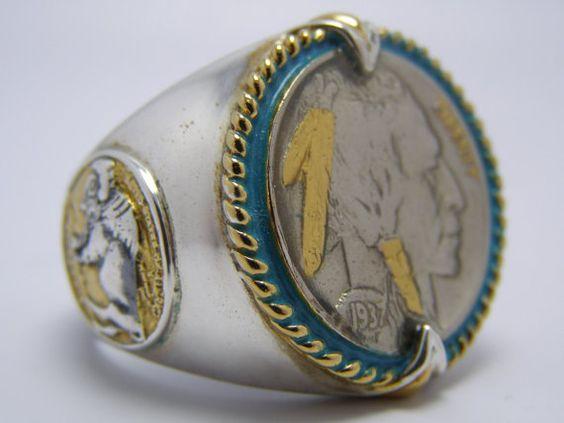 Buffalo Head Nickel Ring