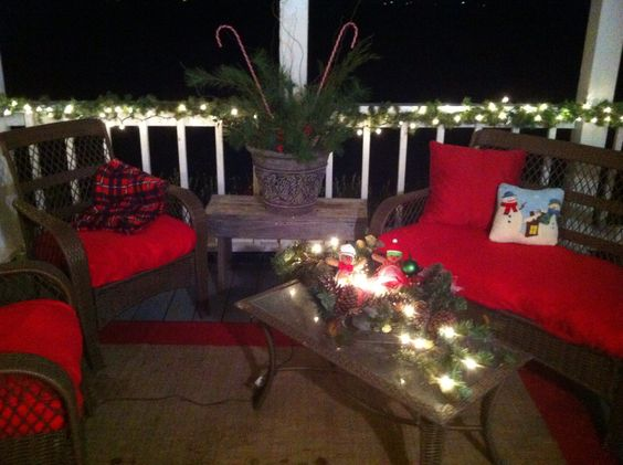 Transform Your Patio Furniture For Christmas For With Cheap Throws From Rite Aid