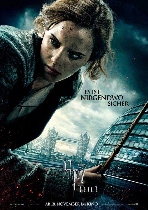 Harry Potter Und Die Heiligtumer Des Todes Teil 1 Movie Poster Hermine Granger Harry Potter Poster Harry Potter Film Heiligtumer Des Todes
